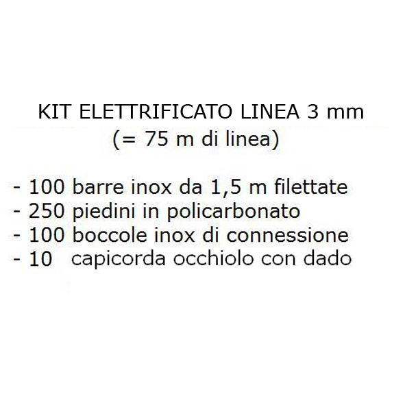 Kit elettrificato linea da 3 mm