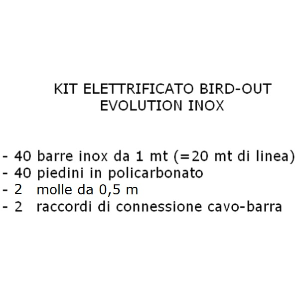 Kit Bird-Out inox